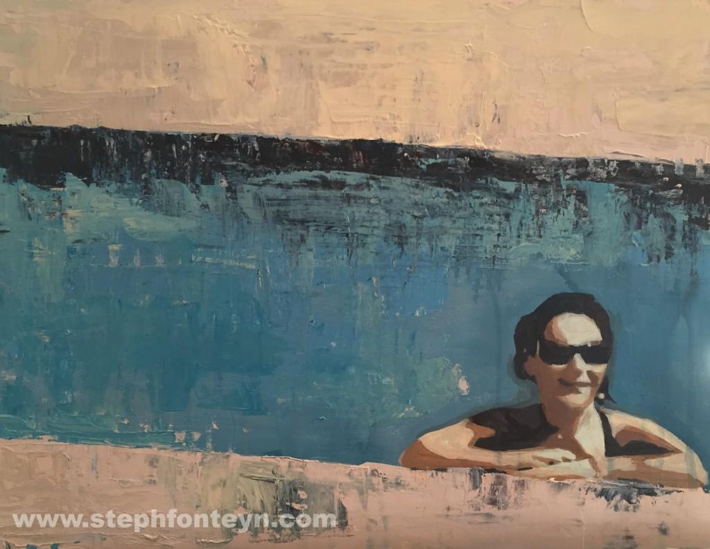 Poolside II by Steph Fonteyn 40x30cm web