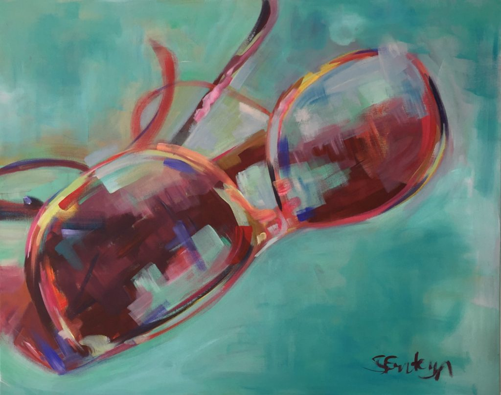 sunglasses painting 30x24x1.5inch stephfonteyn